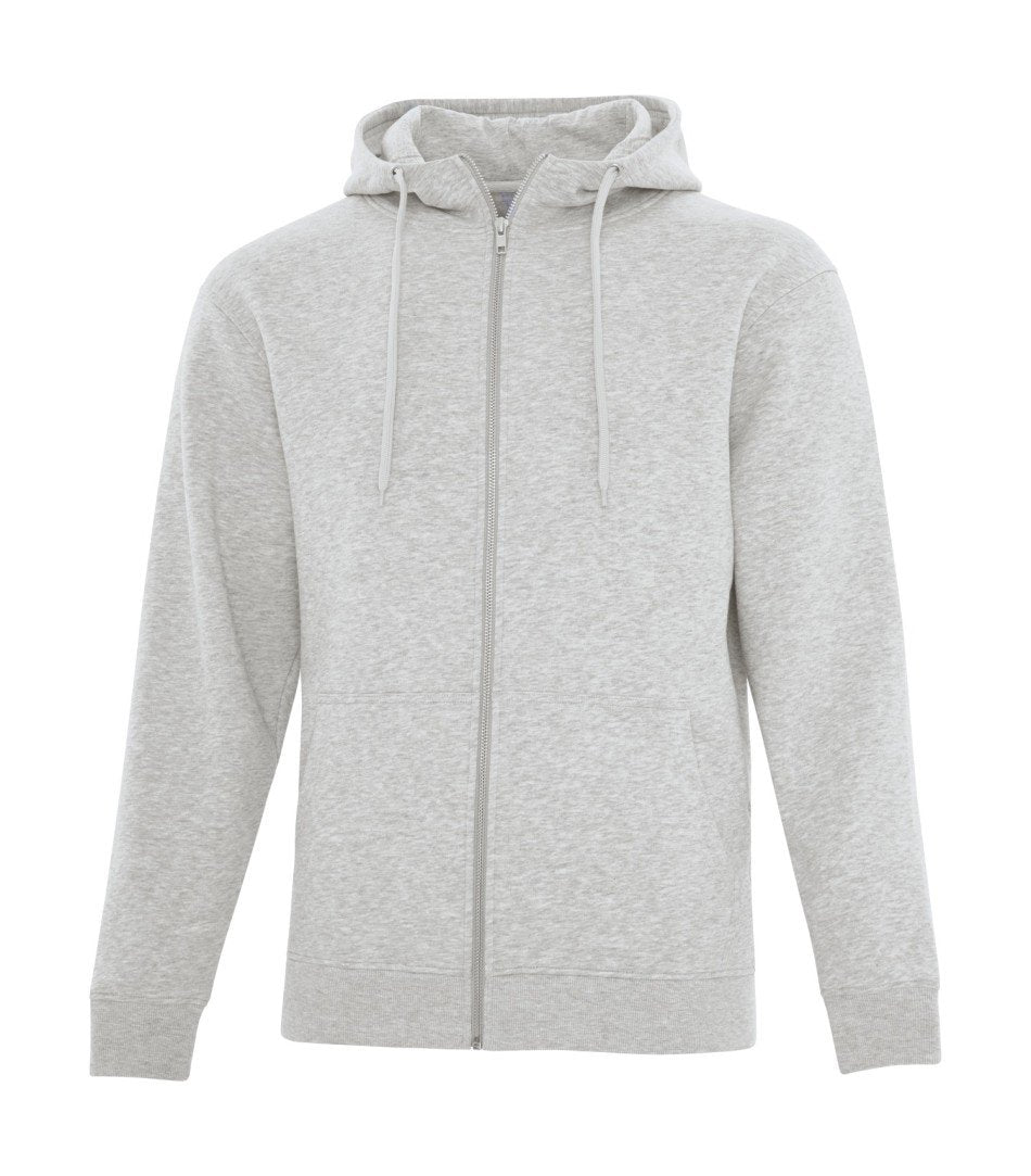 Premium Fleece Sweater: Full Zip - F2018 - Athletic Grey
