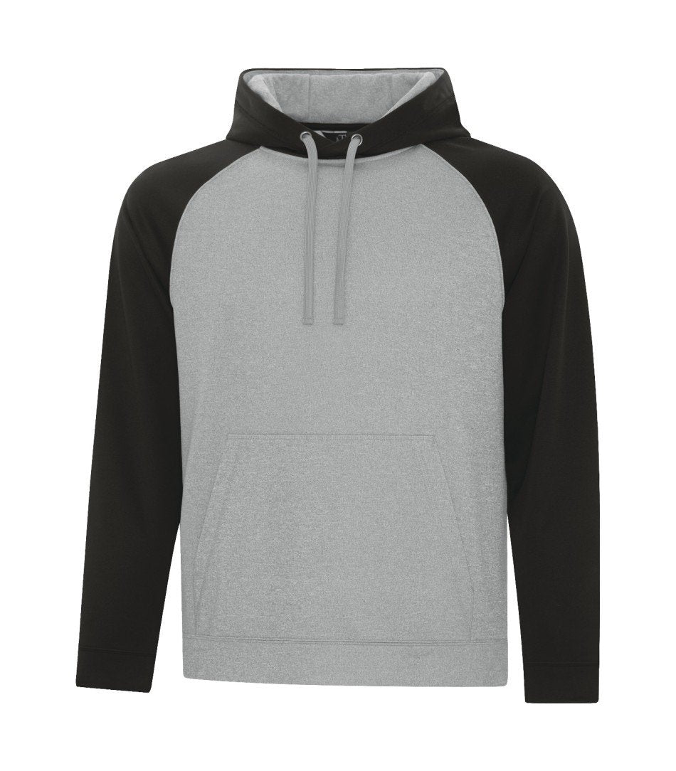 Performance Fleece Sweater: Premium Colour Variations Two Tone - F2037 - Athletic Grey