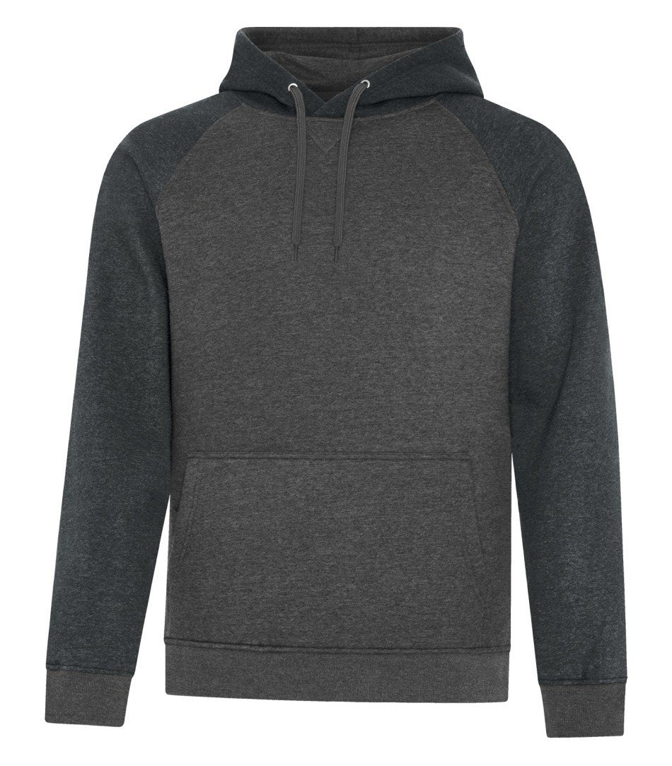 Premium Fleece Sweater: Two Tone - F2044 - Charcoal/Black