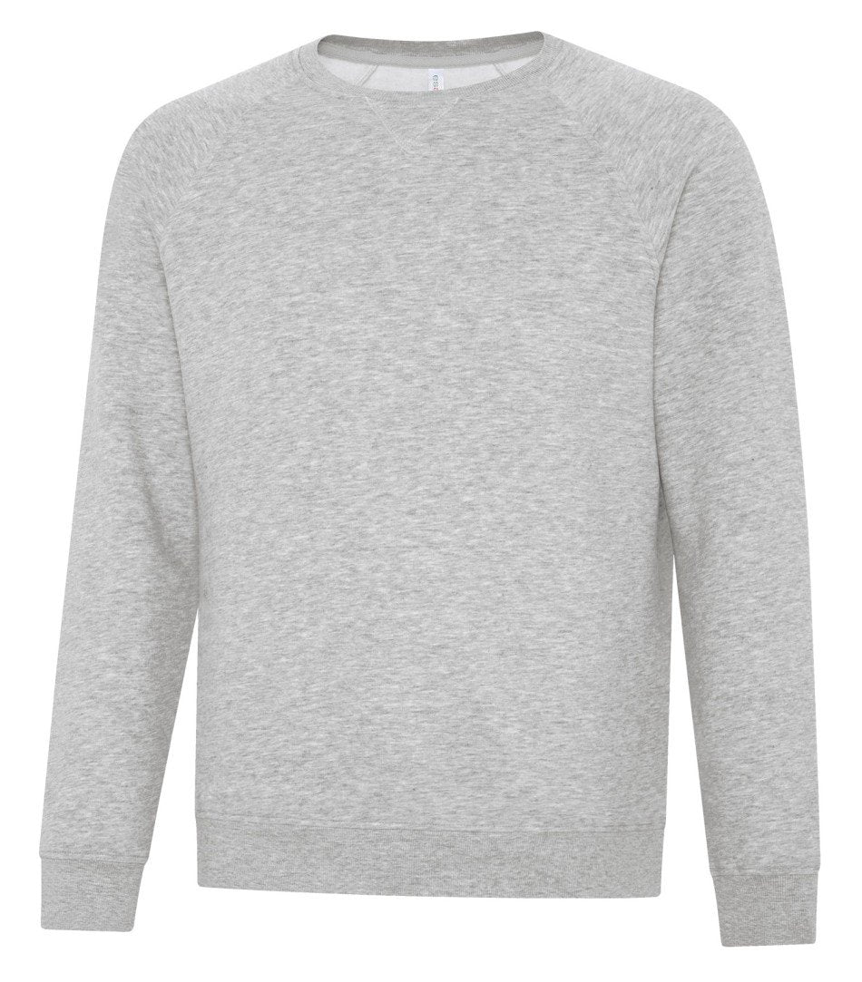 Premium Fleece Sweater: Crew Neck - F2046 - Athletic Grey