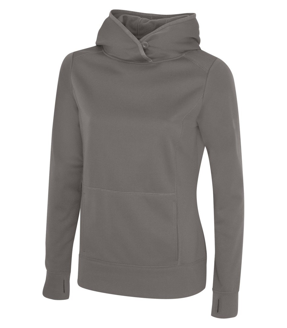 Performance Fleece Sweater:  Women's Cut Basic Solid Colours - L2005 - Coal Grey
