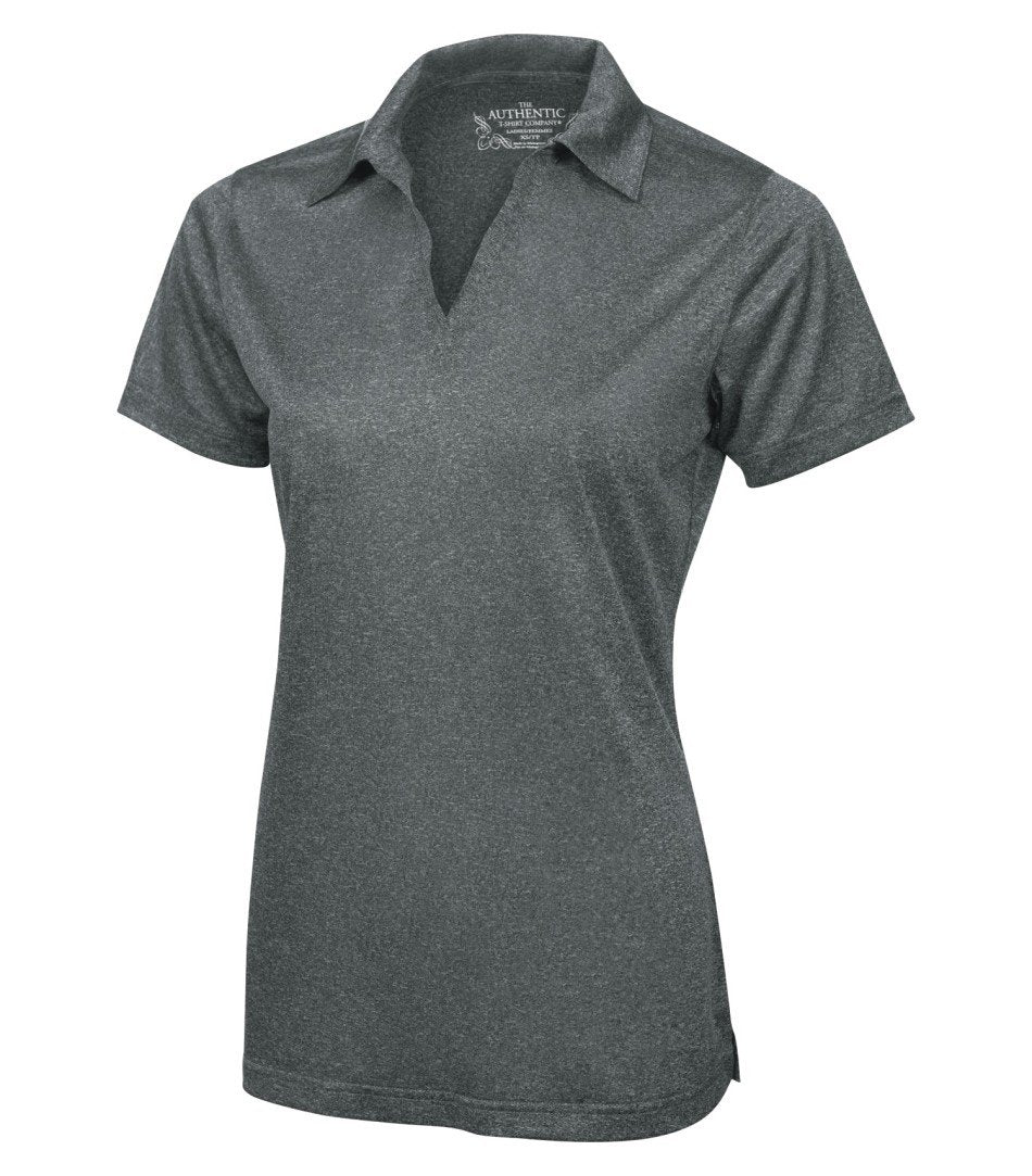 Basic Polo Shirt: Women's Cut Heather Pattern - L3518 - Graphite Heather