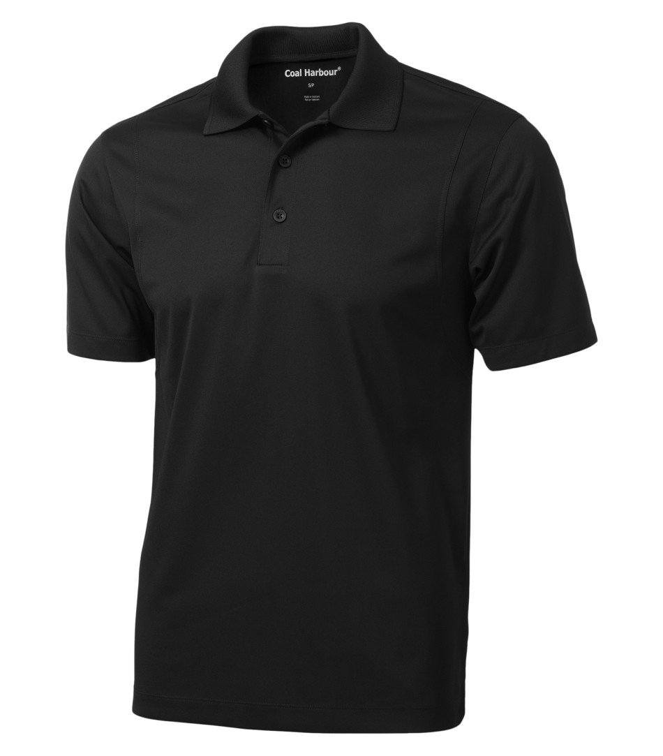 Basic Polo Shirt: Men's Cut Snag Resistant - S445 - Black