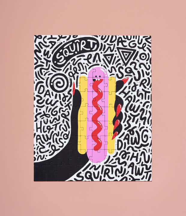 Hot Dog Monster Puzzle by Lindsey Wright 1