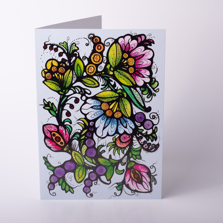 Floral Art Card - Metallic Shine Limited Print