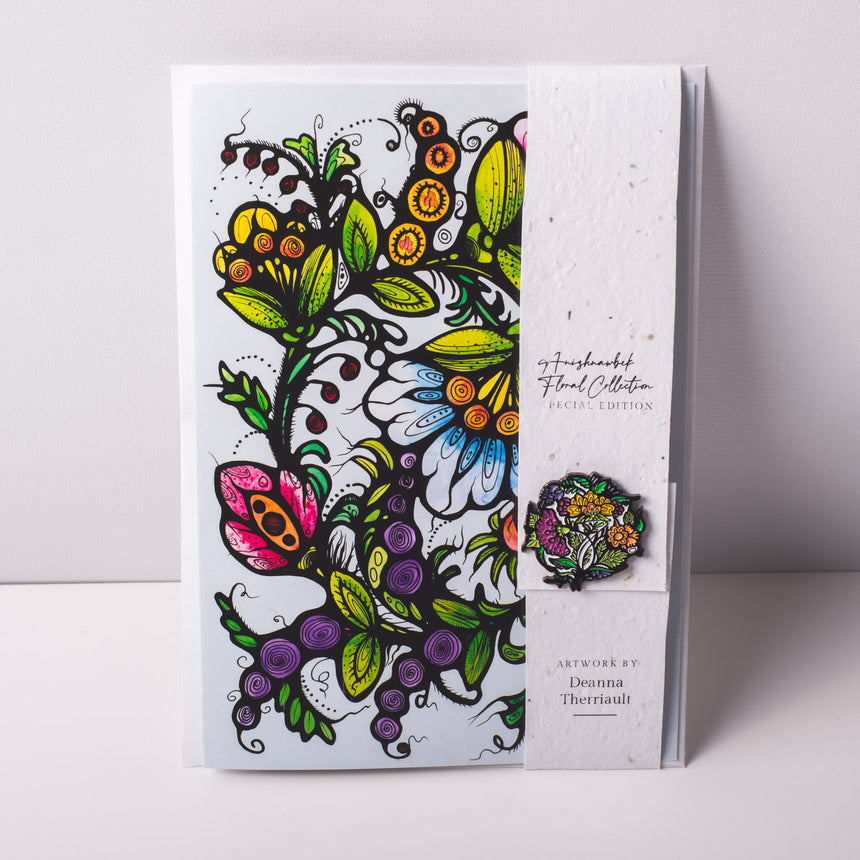 Floral Art Card & Limited Edition Pin