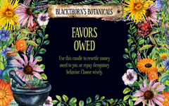 Favors Owed Tea or Candle