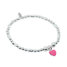Load image into Gallery viewer, Pink Heart Bracelet