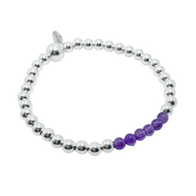 Load image into Gallery viewer, Amethyst and Silver Bracelet