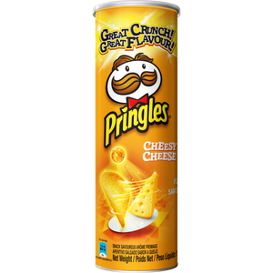 Pringles Cheesy Cheese flavoured savoury snack 110g Pack of 12