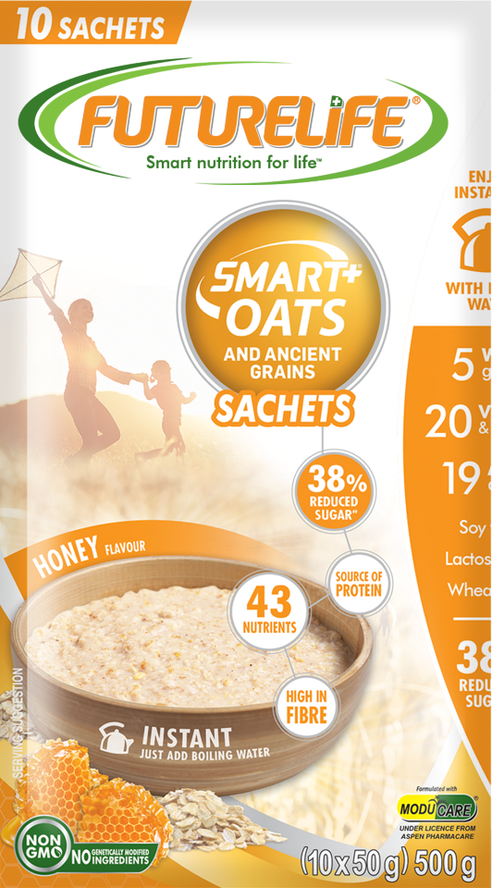Futurelife Smart Oats and Ancient Grains Honey 10 x 50g