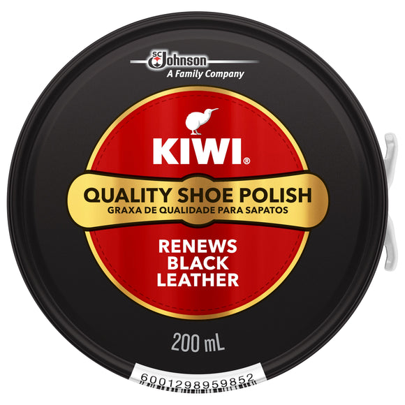 Kiwi Shoe Polish Black 1 x 200ml