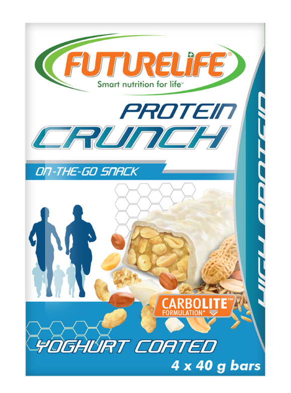 Futurelife Crunch Protein bars Yoghurt Coated Crunch Protein Bar 4 x 40g
