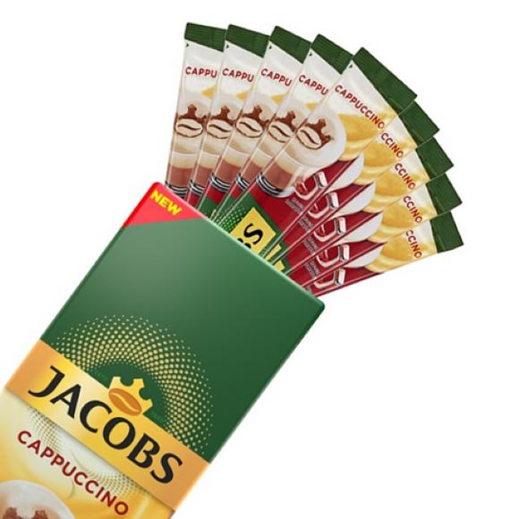 Jacobs Instant Coffee Cappuccino 10 sticks (10 drinks)