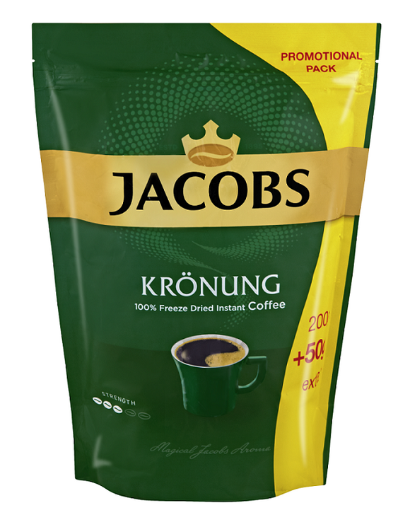 Jacobs Kronung Instant Coffee Pouch 250g