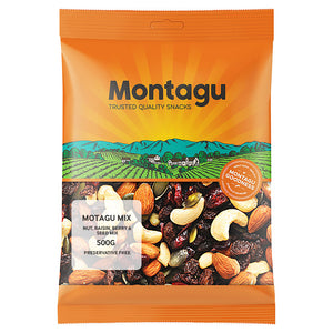 Montagu Nut Raisin Berry and Seed Mix 500g Pack of 6