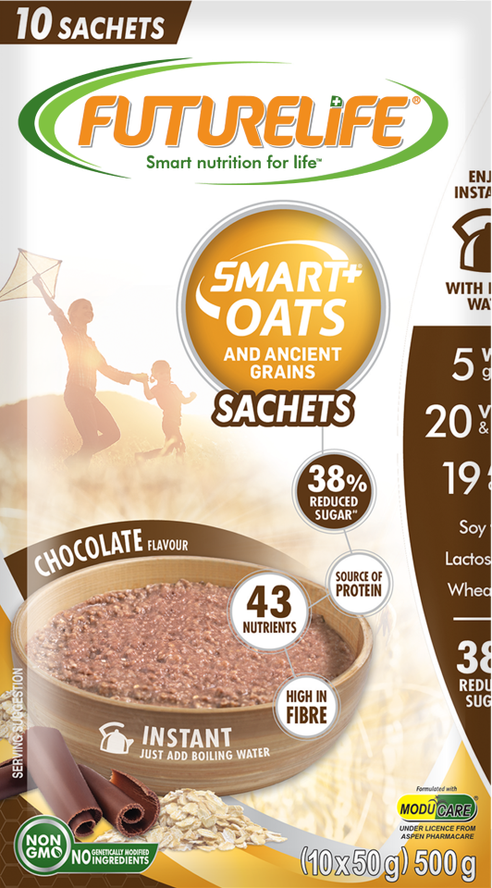 Futurelife Smart Oats and Ancient Grains Chocolate 10 x 50g