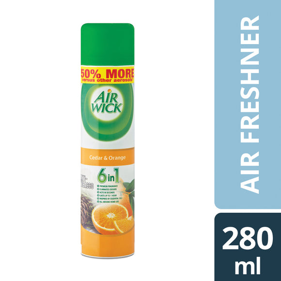 Airwick Air Freshner AntiTobacco Cedar and Orange 280ml