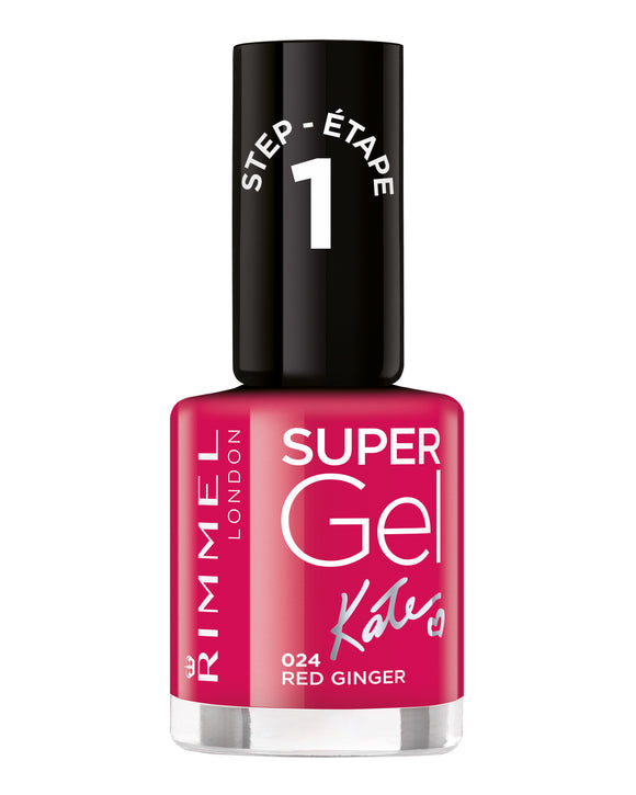 Rimmel Super Gel Nail Polish Kate 024 Red Ginger