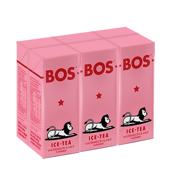 BOS Ice Tea Watermelon and Mint 200ml Tetra 6pack