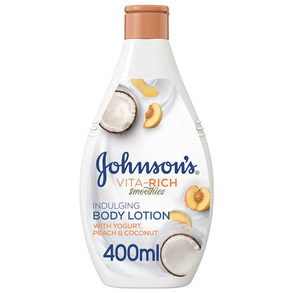 Johnsons Vita Rich Yoghurt Coco and Peach Lotion 400ml Pack of 6