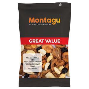 Montagu Mixed Dried Fruit SubStandard Grade 500g Pack of 6