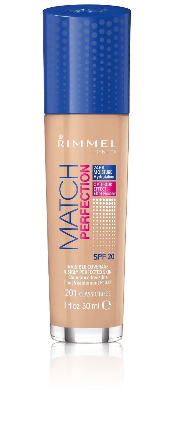 Rimmel Match Perfect Foundation 201 Classic Beige