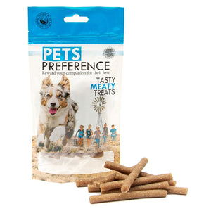 Pets Preference Tasty Meaty Treats Box of 12 x 100g