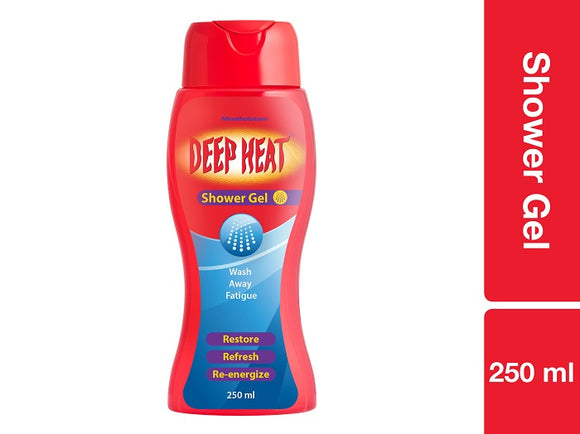 Deep Heat Shower Gel 250g Pack of 6