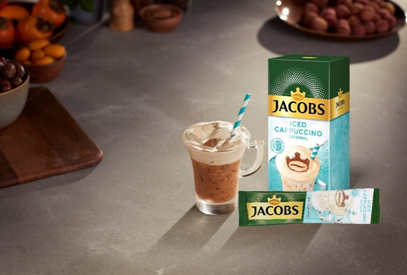 Jacobs Iced Coffee Cappuccino Salted Caramel - Pack of 8 sticks