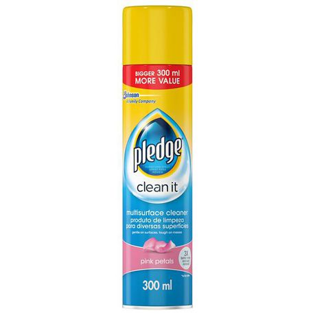 Pledge Multi Surface Cleaner Aerosol Pink Petals 1 x 300ml