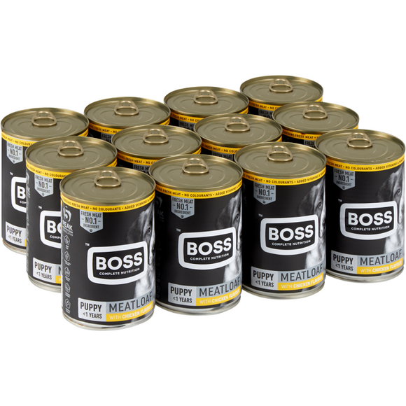 Boss Puppy Champions Chicken 385g Pack of 12
