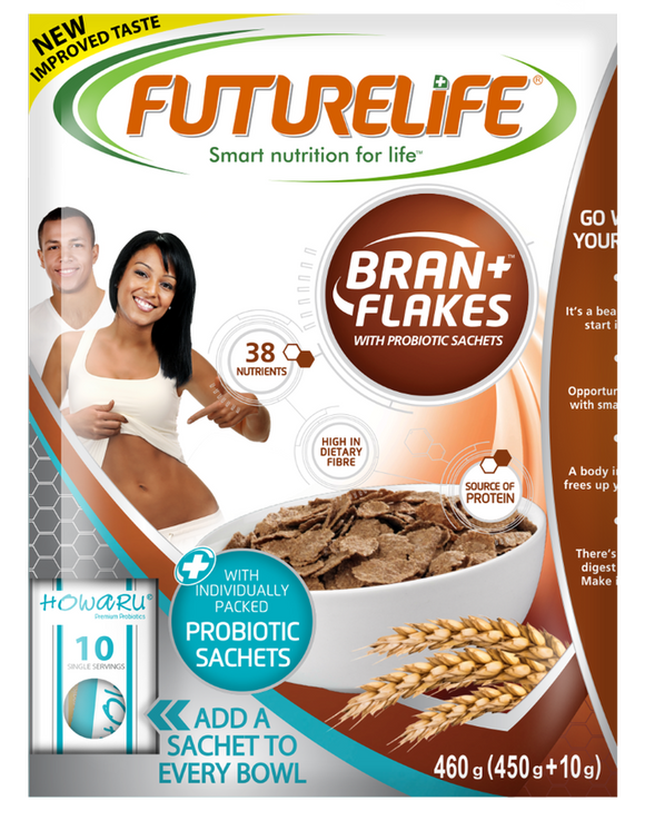 Futurelife Bran Flakes with Probiotic Sachets Original 460g