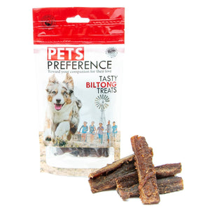 Pets Preference Tasty Biltong Treats Box of 12 x 100g