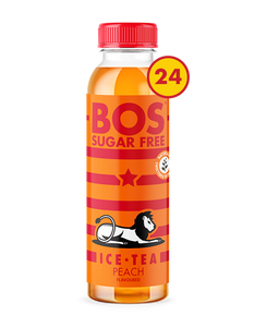 BOS Ice Tea Sugar Free Peach 500ml case of 24