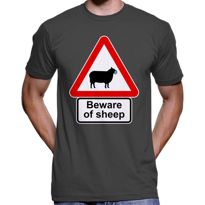 Beware Of Sheep Anti Face Mask T-Shirt