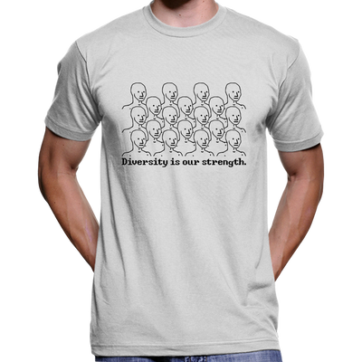 Diversity Is Our Strength NPC Meme T-Shirt