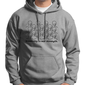Diversity Is Our Strength NPC Meme Hoodie
