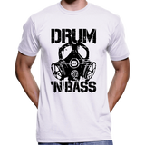 Drum 'N Bass (DnB) Gas Mask Stencil T-Shirt