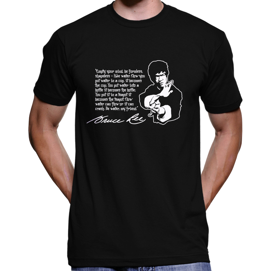 "Bruce Lee ""Empty Your Mind"" Quote T-Shirt / Hoodie"
