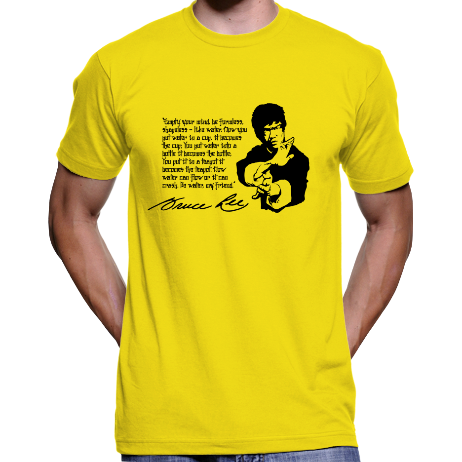 Bruce Lee Empty Your Mind Quote T Shirt Hoodie Culture Clash