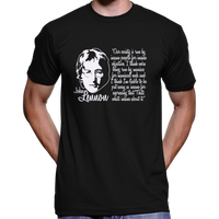 "John Lennon T-Shirt ""Our Society Is Run By Insane People"" Quote"