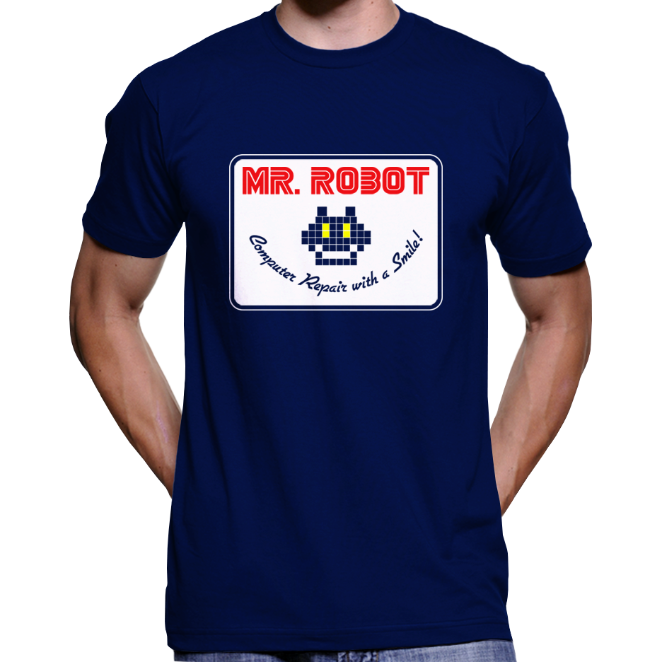 "Mr. Robot ""Computer Repair With A Smile"" Patch T-Shirt / Hoodie"