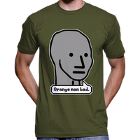 Orange Man Bad NPC Meme T-Shirt
