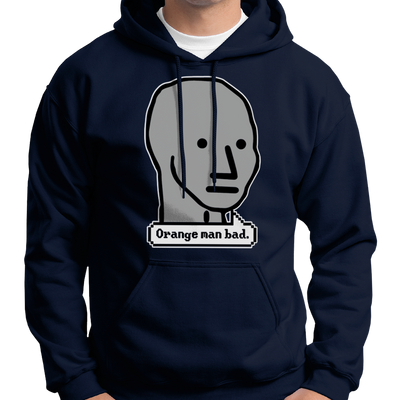 Orange Man Bad NPC Meme Hoodie