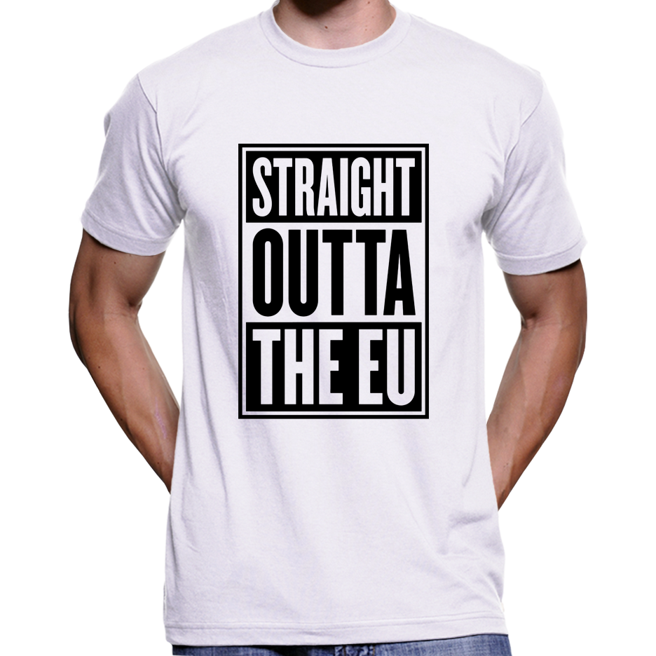 Straight Outta The EU (Brexit, UKIP) T-Shirt / Hoodie