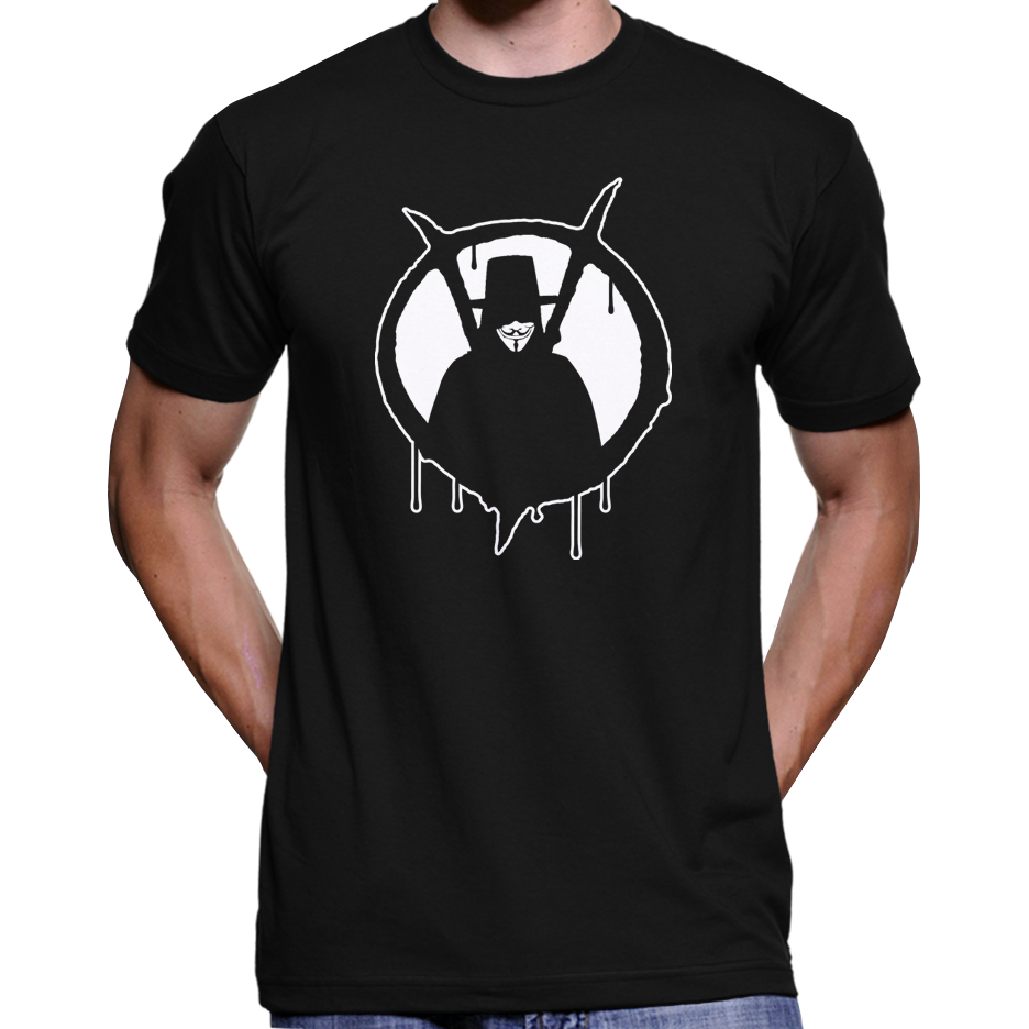 V For Vendetta Spraypaint T-Shirt