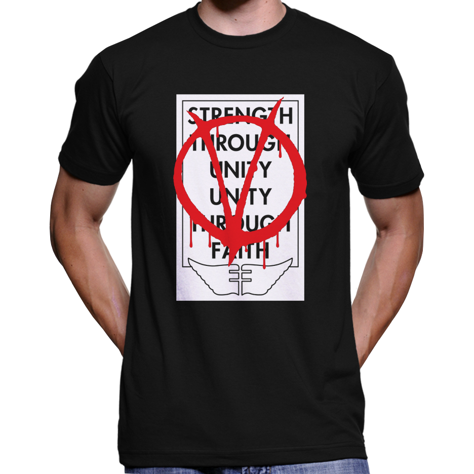 "V For Vendetta ""Strength Through Unity"" Poster T-Shirt"