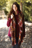 Cute & Cozy Plaid Scarf-Coffee