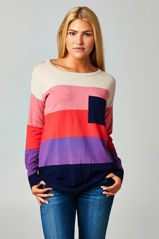 LOVESTITCH-Colorblock Sweater (Candy)